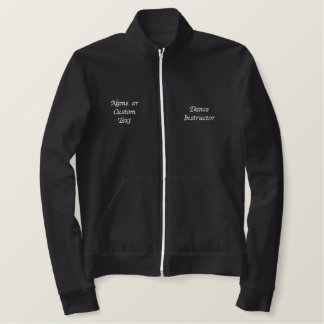 Cute Dance Instructor Fitness Track Jacket