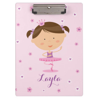 Cute Dancer Ballerina Girl Clipboard