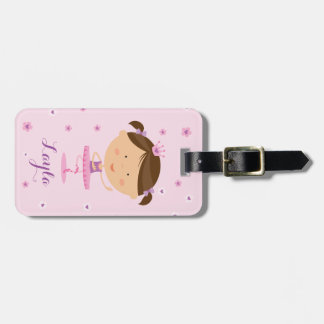 Cute Dancer Ballerina Girl Luggage tag