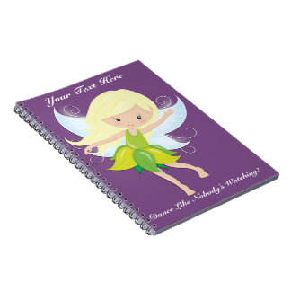 Cute Dancing Fairy Nymph Personalized Notebook
