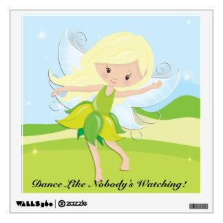 Cute Dancing Fairy Nymph Wall Decal