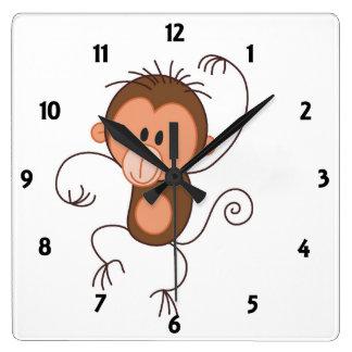 Cute Dancing Monkey Clock