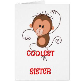Cute Dancing Monkey Greeting Card