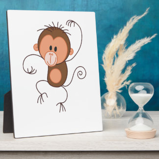Cute Dancing Monkey Display Plaques