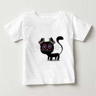 Cute Day Of The Dead Cat Baby T-Shirt