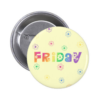Cute Day Of The Week Friday 2 Inch Round Button