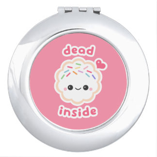 Cute Dead Inside Cookie Makeup Mirror