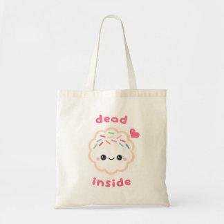 Cute Dead Inside Cookie Tote Bag