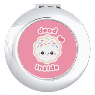 Cute Dead Inside Cookie Vanity Mirrors