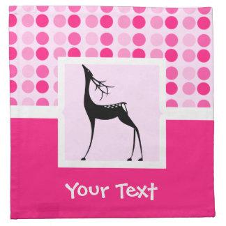 Cute Deer; Reindeer Cloth Napkins