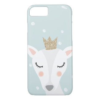 Cute Deer | Soft Blue | Winter iPhone 8/7 Case