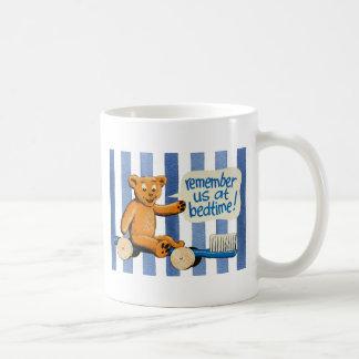 Cute Dental Bear - Blue Stripes Coffee Mug