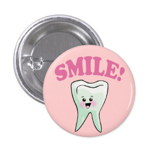 Cute Dental Hygienist 1 Inch Round Button