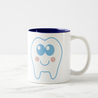 Cute Dental Tooth Two-Tone Coffee Mug