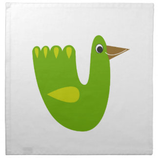 Cute designs with Green bird Napkin