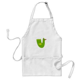 Cute designs with Green bird Standard Apron