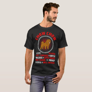 Cute Devoted Affectionate Chow Chow Dog Tshirt