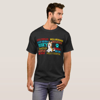 Cute Devoted Affectionate Husky Dog TshirtCute Dev T-Shirt