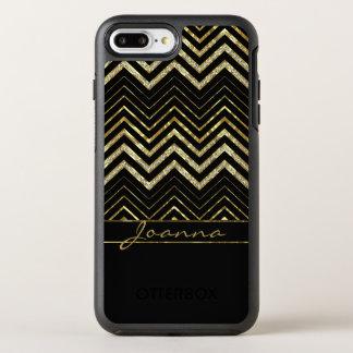 Cute Diamonds And Gold Chevron OtterBox Symmetry iPhone 8 Plus/7 Plus Case