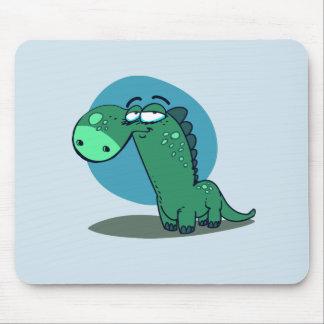 cute dino kid funny cartoon mouse pad