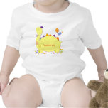 Cute Dino Personalized Name Baby Creeper