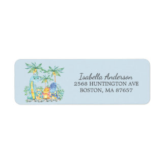 Cute Dinoasaurs Baby Shower Address Label