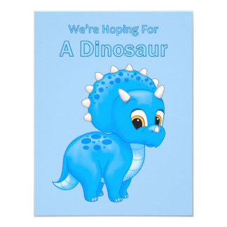 Cute Dinosaur Baby Boy Pregnancy Announcement