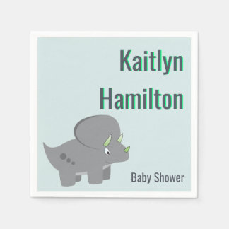 Cute Dinosaur | Baby Shower To Honor the New Mom Disposable Napkin