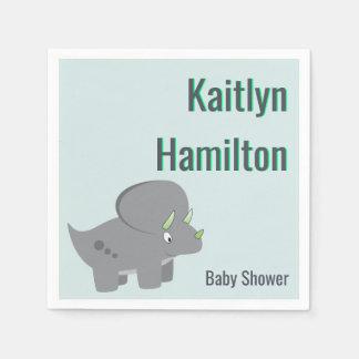 Cute Dinosaur | Baby Shower To Honor the New Mom Napkin