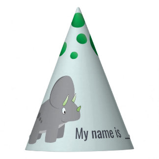 Cute Dinosaur | Baby Shower To Honor the New Mom Party Hat