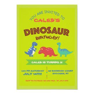 Cute Dinosaur Birthday Party Invitation