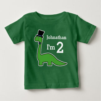 Cute Dinosaur Boy Birthday Customize Name Baby T-Shirt