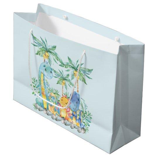Cute Dinosaur Boys Baby Shower Gift Bag