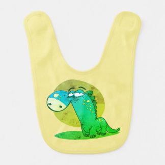 cute dinosaur kid funny cartoon bib