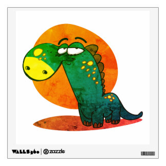 cute dinosaur kid funny cartoon wall sticker