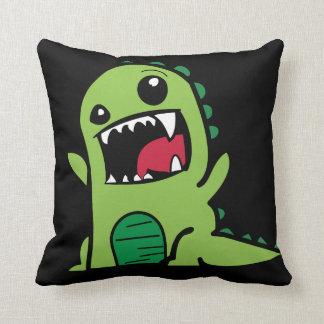 Cute Dinosaur Kids Room Throw Pillow