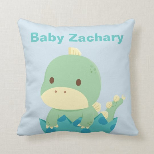Cute Dinosaur Newborn Baby Nursery Throw Pillow