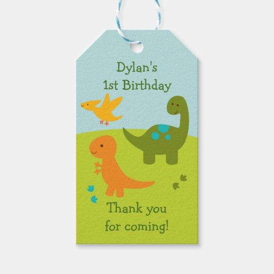 Cute Dinosaur Party Favour Tags