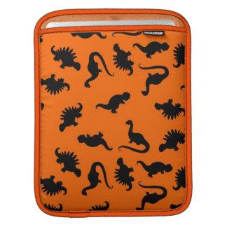 Cute Dinosaur Pattern on Orange iPad Sleeve