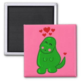 Cute Dinosaur Square Magnet