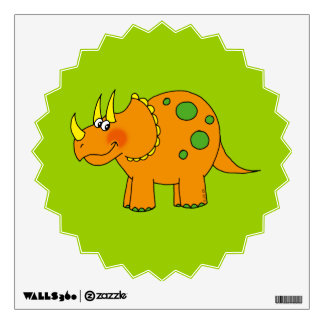 Cute dinosaur - triceratops wall sticker