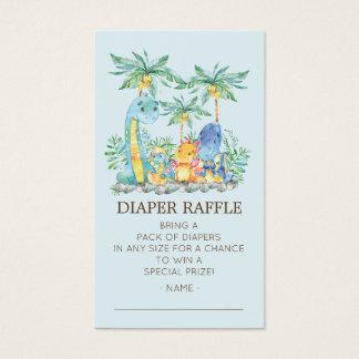 Cute Dinosaurs Baby Shower Diaper Raffle Ticket