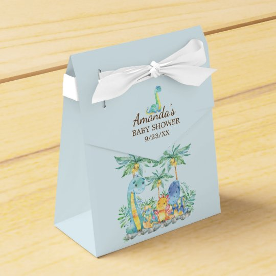 Cute Dinosaurs Baby Shower Favour Box