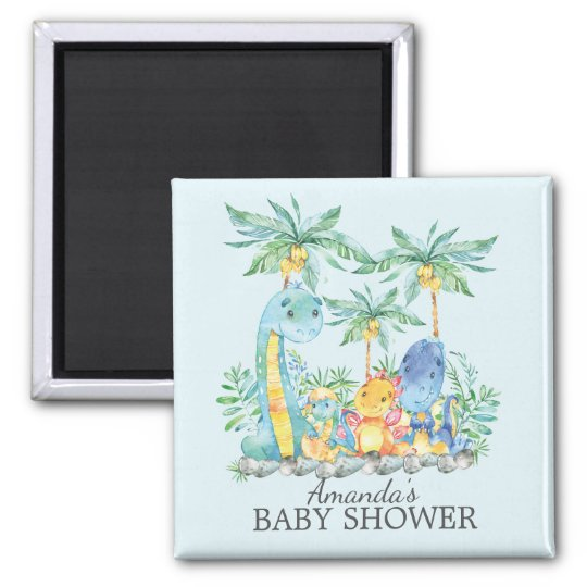 Cute Dinosaurs Baby Shower Favour  Magnet