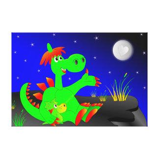 Cute Dinosaurs Canvas Print