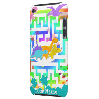 Cute Dinosaurs in Color Maze iPod Touch Case