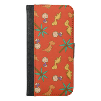 Cute Dinosaurs iPhone 6/6s Plus Wallet Case