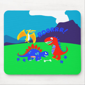 Cute dinosaurs mouse pad