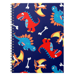 Cute dinosaurs spiral notebook