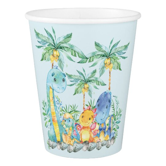 Cute Dinosuars Baby Shower Paper Cup